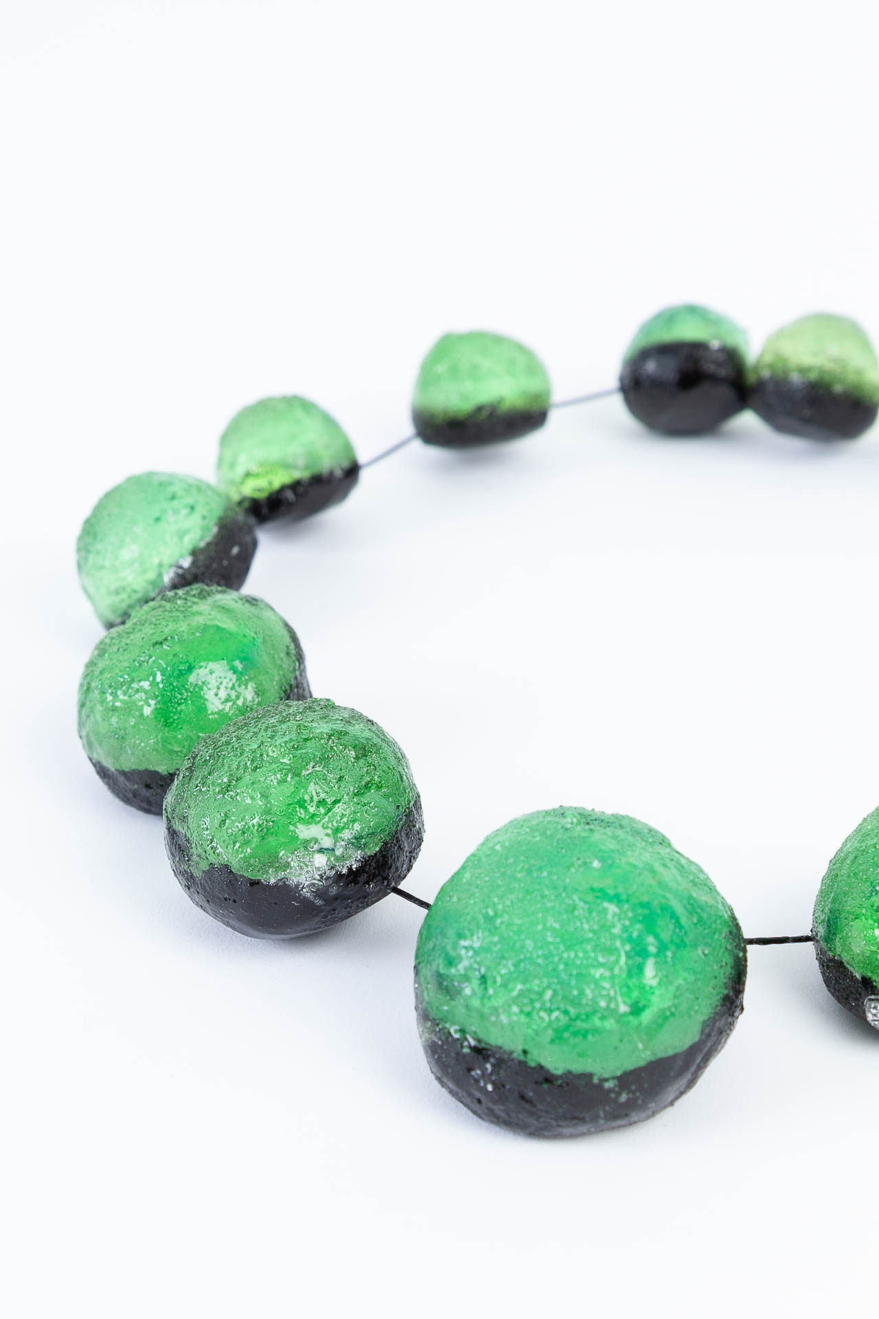 Collier 13 boules Vertes - Marianne Olry