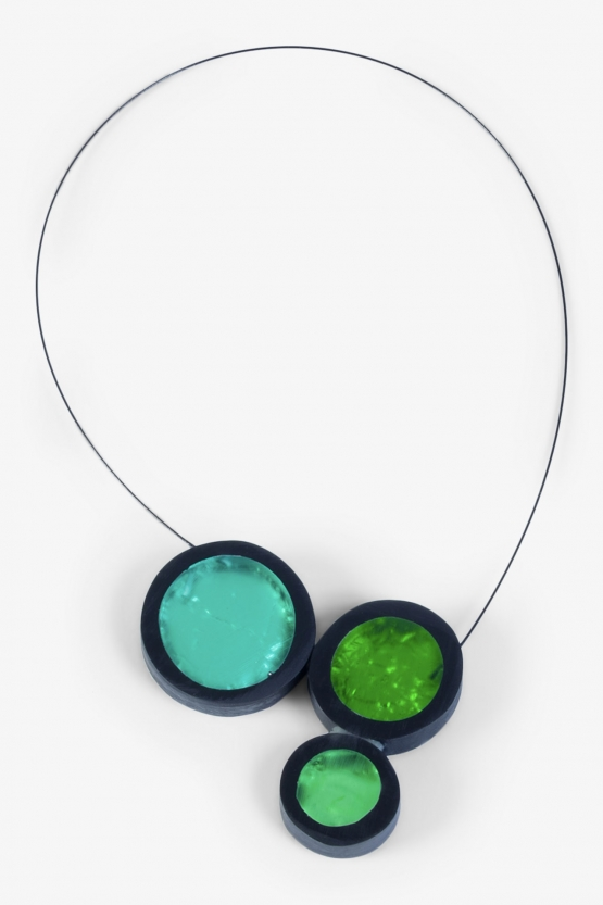 Collier Calder - 3 Ronds - Verts