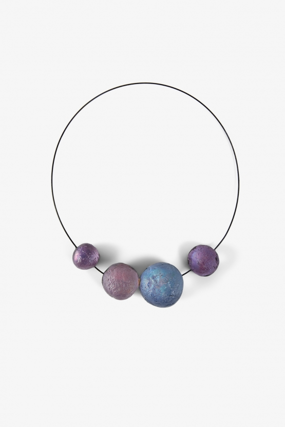 Collier 4 boules Violettes - Marianne Olry