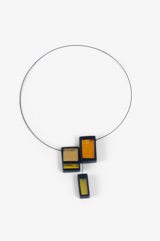 Collier Calder 3 Rectangles - Jaunes