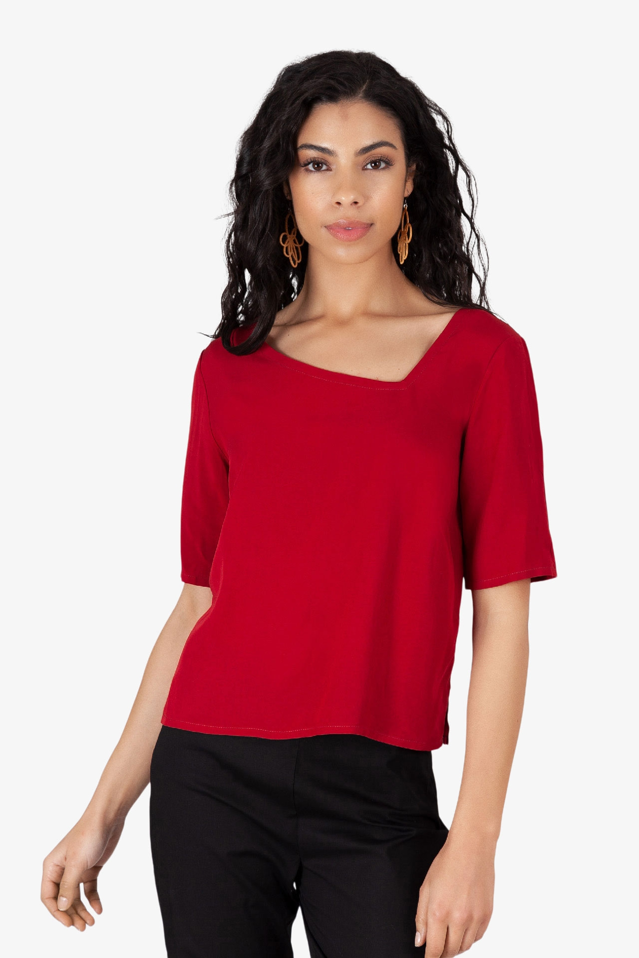 Top Asy Viscose Rouge