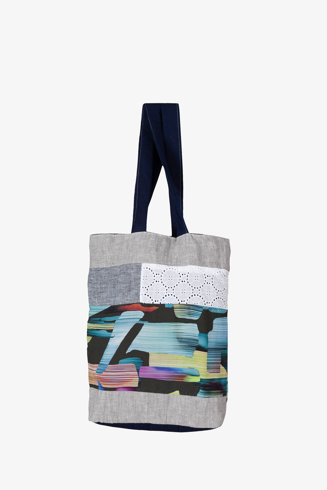 Tote Bag Patchwork Vitraux Dentelle