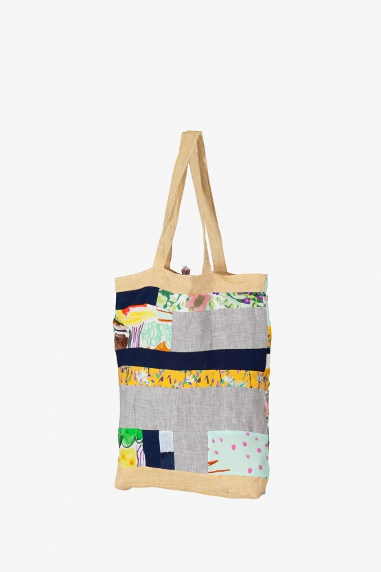 Tote Bag Patchwork Grands Rectangles