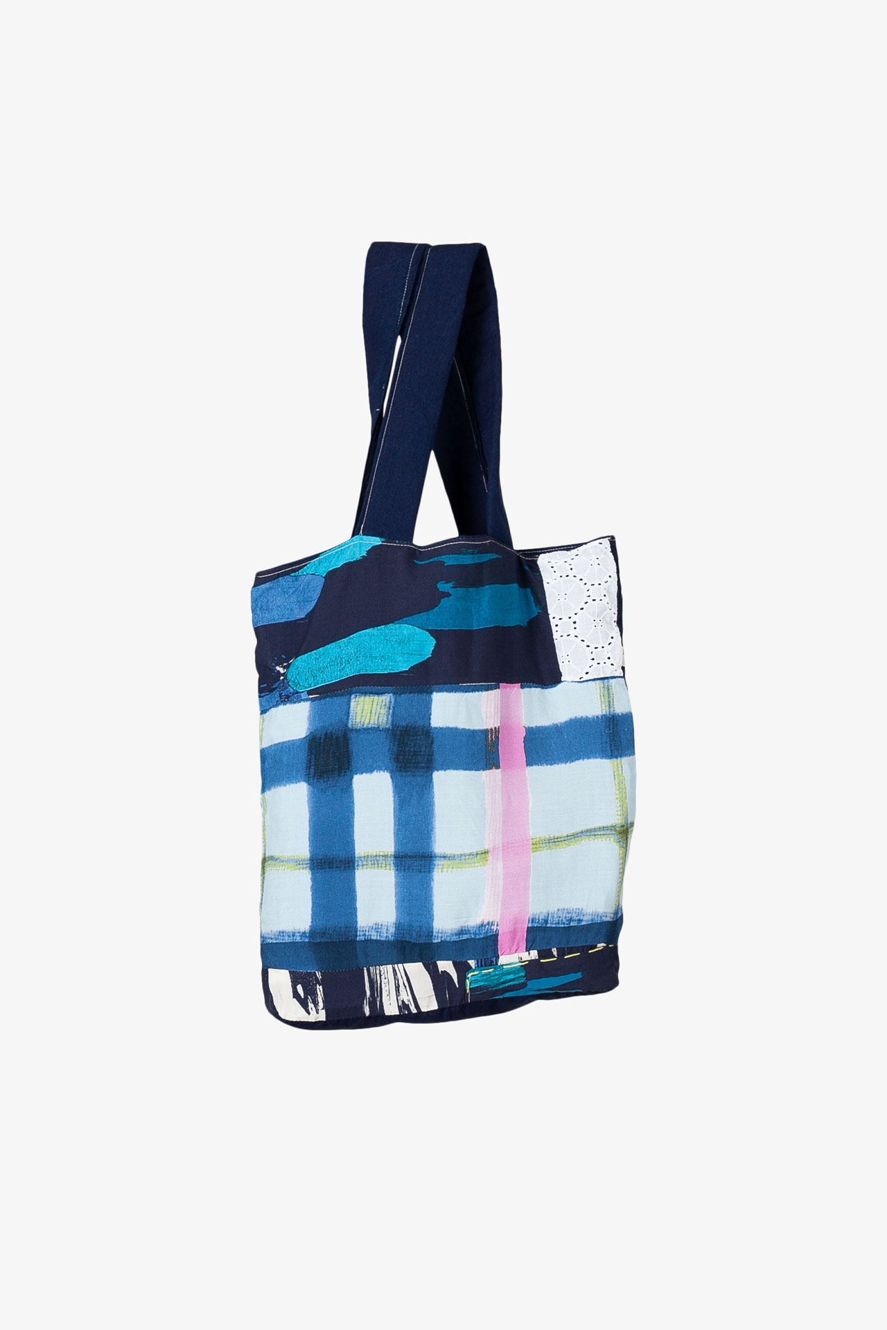 Tote Bag Patchwork Broderie Anglaise