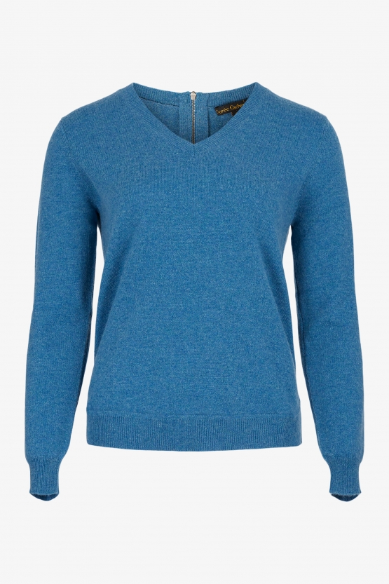Pull Cachemire Col V Zip Pacific
