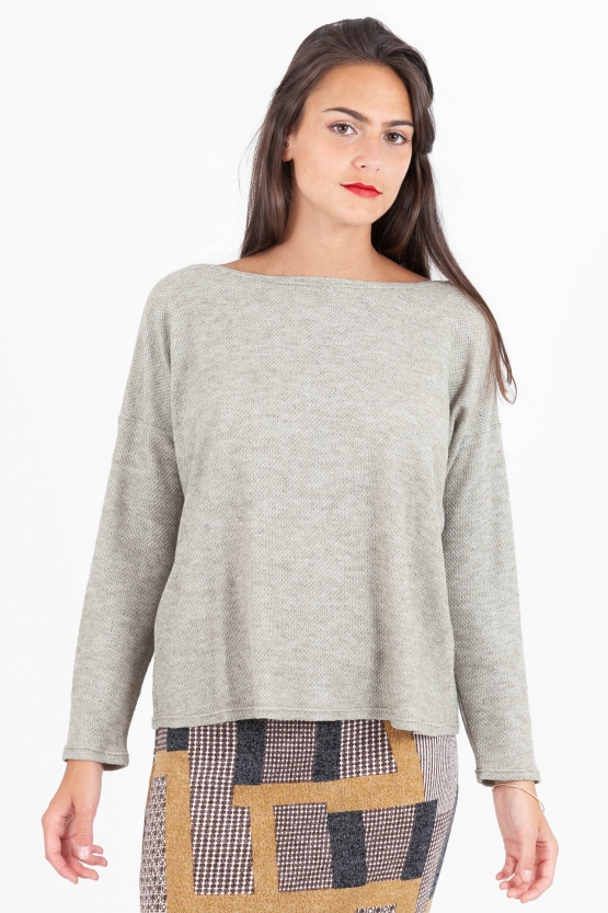 Pull Ample Nid d'abeilles