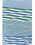 Top Patch Fausses Rayures Bleu/Vert/ Blanc
