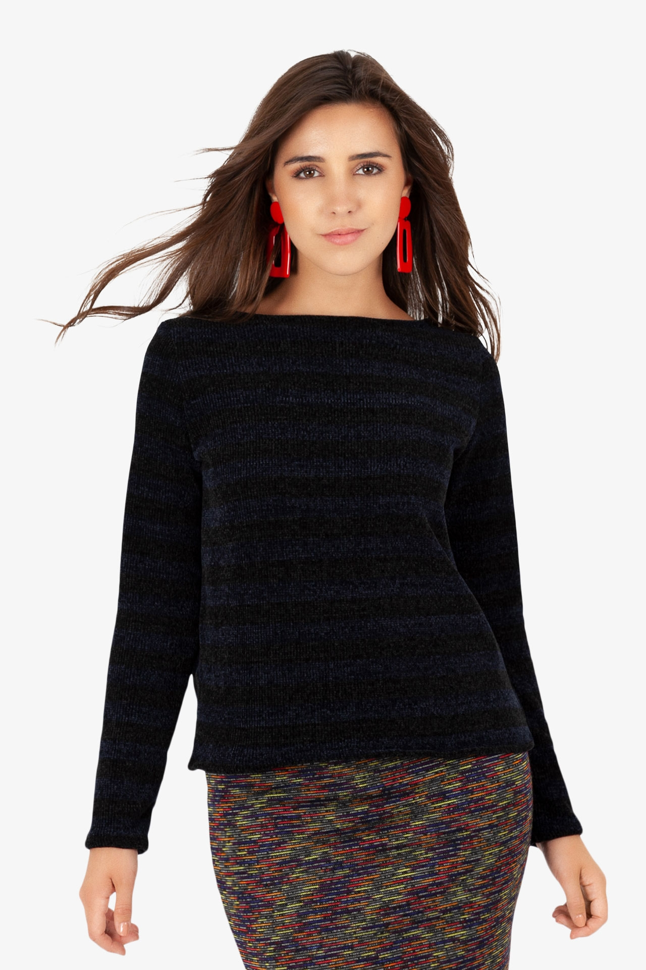 Pull Carré Chenille